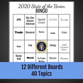 State of the Union Bingo