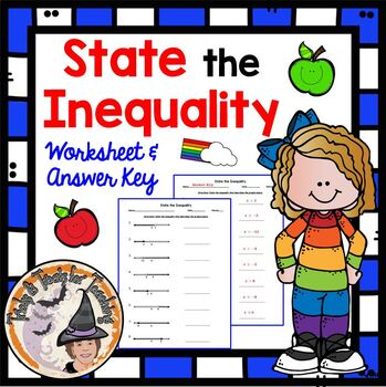 State the Inequality Graphs Algebra Equations Inequalities Practice Worksheet