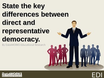 State the key differences between direct and representativ