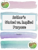 Stated vs. Implied Author's Purpose Assessment 5.3.R.1