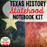 Texas' Statehood Notebook Kit