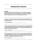 Statehood in America Sequencing and Context Clues Game