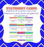 Statement Cards: A behavior intervention
