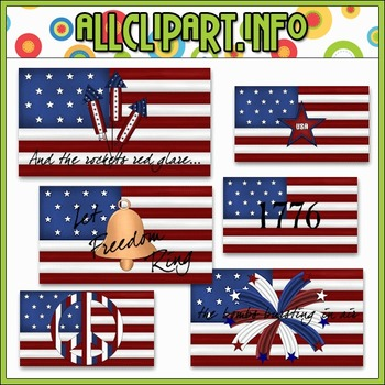 $1.00 BARGAIN BIN - Statement Flags Clip Art