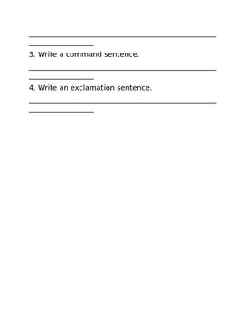 Statement, Question, Command, + Exclamation Sentences