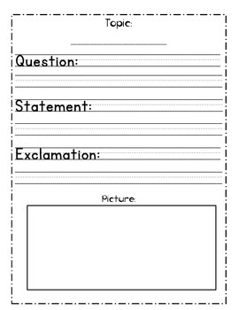 Statement, Question and Exclamation Point Practice