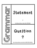 Grammar- Statements & Questions for interactive Notebooks