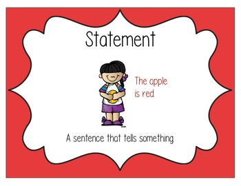 Statement Sentence Type Poster