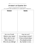 Statement and Question Sort #1