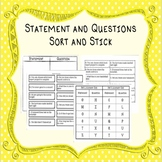 Statement and Question Sort and Stick (A Hands-on Activity)