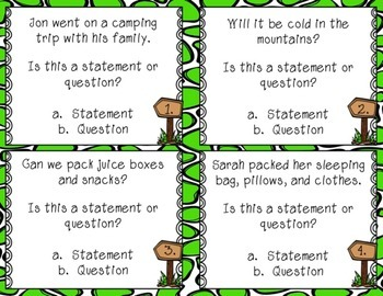 Statement and Question Task Cards