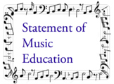Statement of Music Education Philosophy