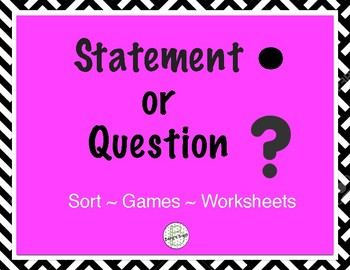 Punctuation: Statement or Question Activities
