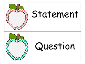 Statement or Question - Common Core Aligned