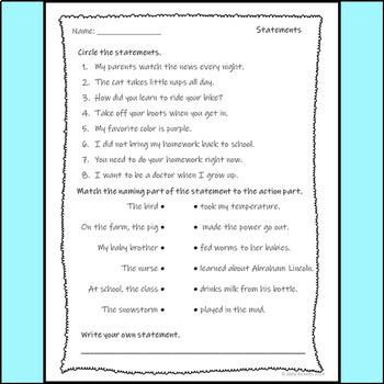 Statements Assessment