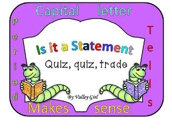 Statements: Quiz, quiz, trade