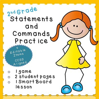 Statements and Commands Practice (second grade)
