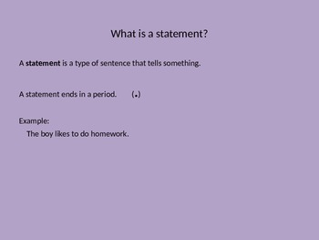 Statements and Questions Power point