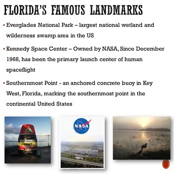 States - ALL ABOUT FLORIDA Informational Slideshow PowerPoint Presentation