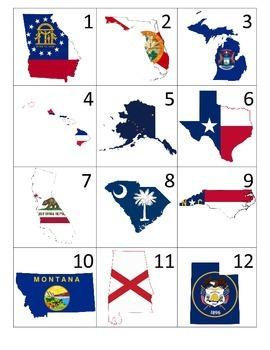 States Calendar Pieces