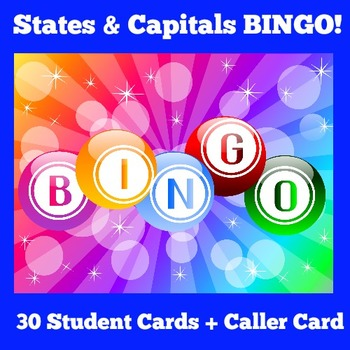 States and Capitals Games | BINGO
