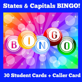 States and Capitals Games | BINGO
