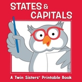 States & Capitals Activity Book & Digital Album Download