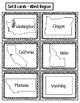 States & Capitals Around the Room {West Region}  ~FREE~