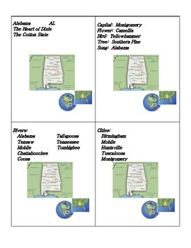 States and Capitals Cards Flashcards  Games
