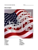 States & Capitals Crossword Puzzle