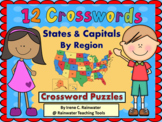 States & Capitals Crossword Puzzles