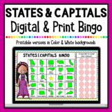 States & Capitals Digital Bingo | Google Classroom & Printable