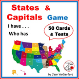 States and Capitals Game  Grade 5 Practice on 50 Task Cards   I have... Who has?