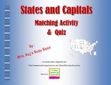 States & Capitals Interactive Activity