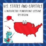 States + Capitals Interactive PowerPoints All Six Regions of the USA