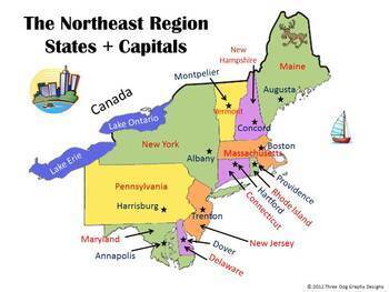 Pictures of Northeast States Labeled - kidskunst.info