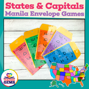 States and Capitals Manila Envelope Games