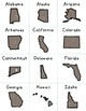 States & Capitals Memory Game
