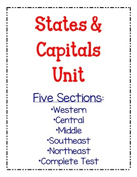 States & Capitals Pack