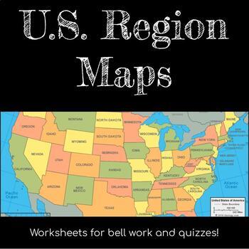 States, Capitals, & Regions Maps