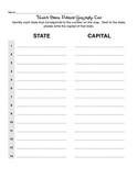 States & Capitals Test