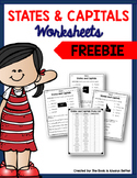 States & Capitals Worksheets