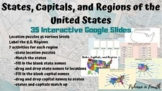 |Distance Learning| States, Capitals, and Regions Interact