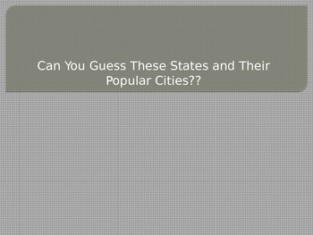 States, Captials, and Landforms Geography Review PPT for T
