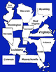 State Maps Clip Art in Colors and BW and Transparent 50 States DC