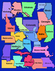 States Clip Art - Colors, BW, and Transparent - All 50 Sta
