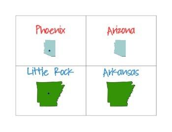 States Matching Game