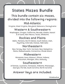 States Mazes Bundle