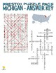 States : Michigan Puzzle Page (Wordsearch and Criss-Cross)