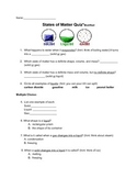 States Of Matter Science Quiz
